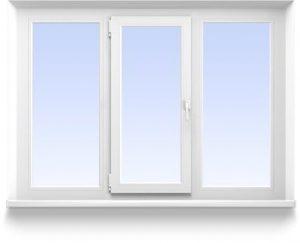 Трехстворчатое окно 2100*1300 Створки: 2 глухие и  1 поворотно-  откидная от 8800 руб.